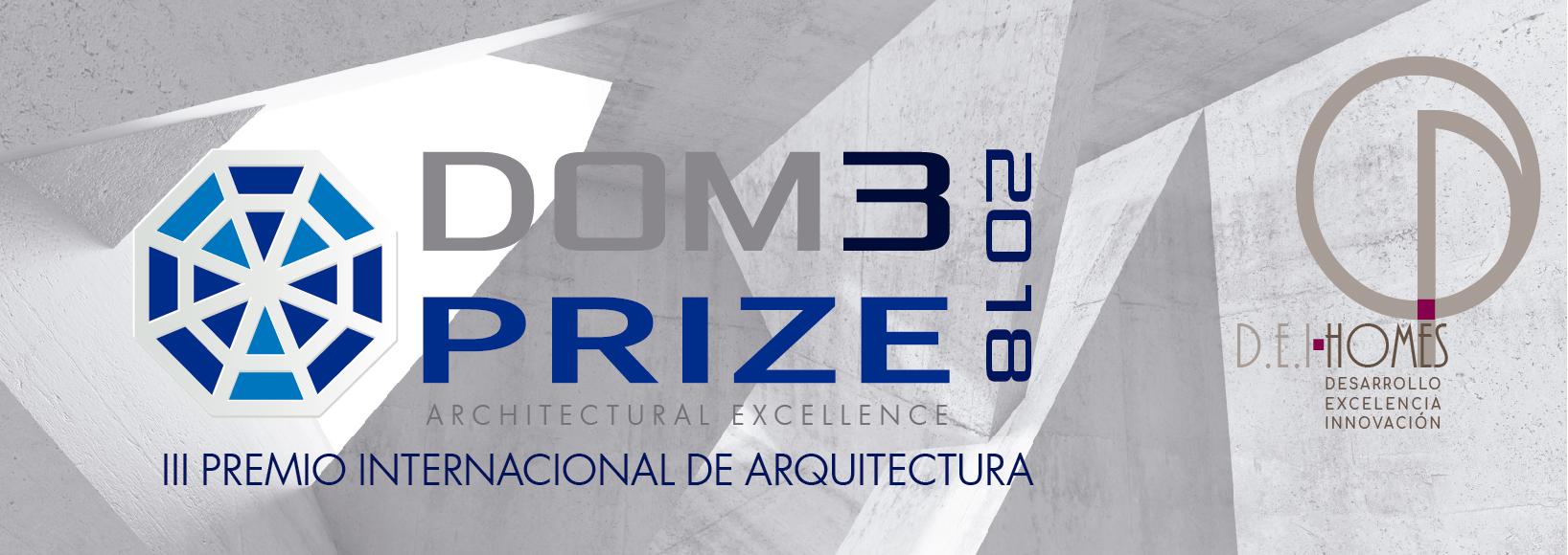 Imagen principal del Premio de arquitectura DOM3 2018